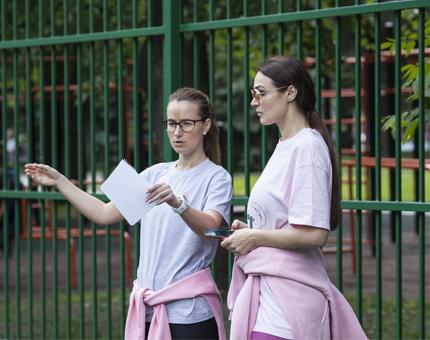 Благотворительная тренировка Алёны Водонаевой и Юлии Арбузовой
